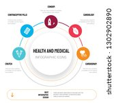 abstract infographics of health ... | Shutterstock .eps vector #1302902890