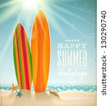 vector holidays vintage design  ... | Shutterstock .eps vector #130290740