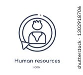 linear human resources icon...   Shutterstock .eps vector #1302918706