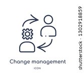 linear change management icon... | Shutterstock .eps vector #1302918859