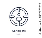 linear candidate icon from... | Shutterstock .eps vector #1302923959