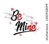 happy valentines day typography ... | Shutterstock .eps vector #1302928099