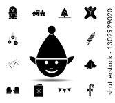 elf icon. simple glyph...