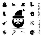 santa claus icon. simple glyph...
