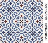 seamless damask pattern.... | Shutterstock .eps vector #1302930529