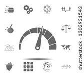 speedometer chart icon. simple...