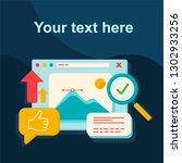 graphics design courses social... | Shutterstock .eps vector #1302933256