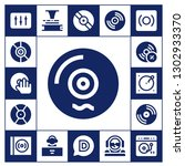 turntable icon set. 17 filled... | Shutterstock .eps vector #1302933370