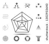 radar chart icon. simple glyph...