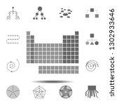periodic table icon. simple...