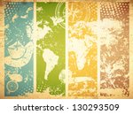 Vintage Travel Abstract Grunge...