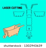 laser cutting carriage. without ... | Shutterstock .eps vector #1302943639