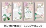 trendy editable instagram... | Shutterstock .eps vector #1302946303