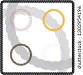 set of vector rope rings.... | Shutterstock .eps vector #1302954196