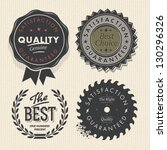 vector set premium quality and... | Shutterstock .eps vector #130296326