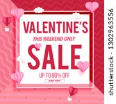 sale banner pink design... | Shutterstock .eps vector #1302963556