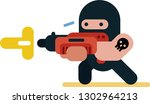 cartoon character with weapon... | Shutterstock .eps vector #1302964213