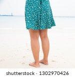 woman in summer beach leisure...   Shutterstock . vector #1302970426