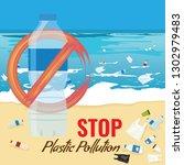 plastic bottle mockup with no... | Shutterstock .eps vector #1302979483