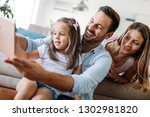 happy family having fun time at ... | Shutterstock . vector #1302981820