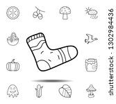 sock icon. simple outline...