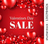 happy valentines day sale... | Shutterstock .eps vector #1302984826