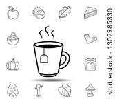 cup of tea icon. simple outline ...