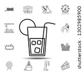 cold drink icon. simple outline ...
