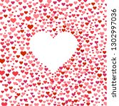 happy valentines day postcard ... | Shutterstock .eps vector #1302997036