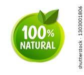 natural label isolated with... | Shutterstock .eps vector #1303001806