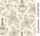 seamless pattern with mint ... | Shutterstock .eps vector #1303007326