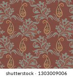 seamless paisley traditional... | Shutterstock . vector #1303009006