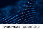wave of particles. futuristic... | Shutterstock . vector #1303018810