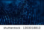 wave of particles. futuristic... | Shutterstock . vector #1303018813