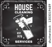 cleaning company badge  emblem. ... | Shutterstock .eps vector #1303019689