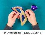 diy masquerade mask mardi gras  ...   Shutterstock . vector #1303021546