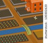 harvest and farm | Shutterstock .eps vector #130302620