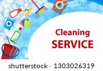 cleaning service blue... | Shutterstock .eps vector #1303026319