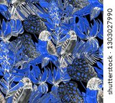 summer exotic seamless pattern. ... | Shutterstock . vector #1303027990