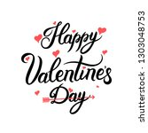 happy valentines day. be my... | Shutterstock .eps vector #1303048753