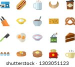 color flat icon set cake flat...   Shutterstock .eps vector #1303051123