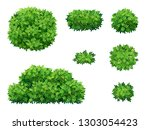 set of green bush and tree... | Shutterstock .eps vector #1303054423