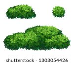 set of green bush and tree... | Shutterstock .eps vector #1303054426