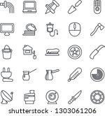 thin line icon set   radar... | Shutterstock .eps vector #1303061206