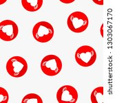 love seamless pattern with red... | Shutterstock .eps vector #1303067170