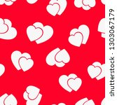 love seamless pattern with red... | Shutterstock .eps vector #1303067179