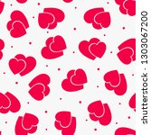 love seamless pattern with red... | Shutterstock .eps vector #1303067200