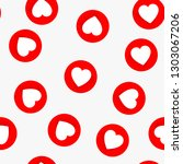 love seamless pattern with red... | Shutterstock .eps vector #1303067206