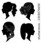 collection. silhouette of the... | Shutterstock .eps vector #1303070650