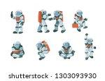 vector set of cartoon flat... | Shutterstock .eps vector #1303093930